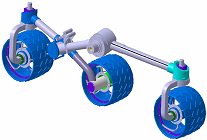 Digital model of one of the two running gears
