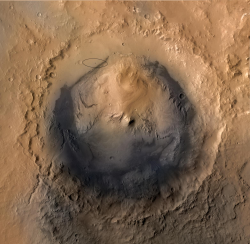 Cratère martien