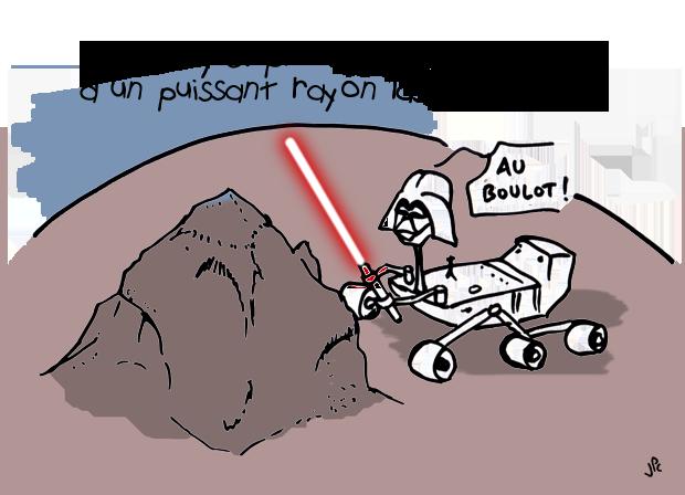 Curiosity et son laser
